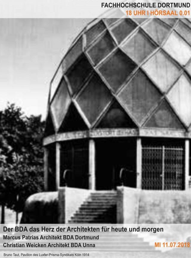 Vortrag: Der BDA, das Herz der Architekten für heute und morgen