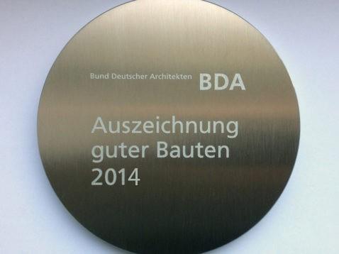 Auszeichnung vom Bund Deutscher Architekten